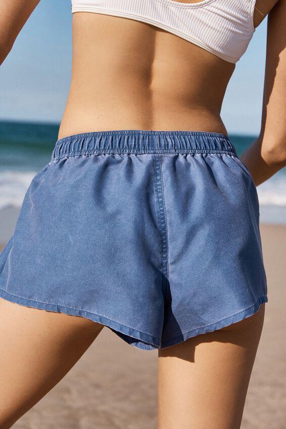 Swimwear Board Short, WASHED MARINA BLUE