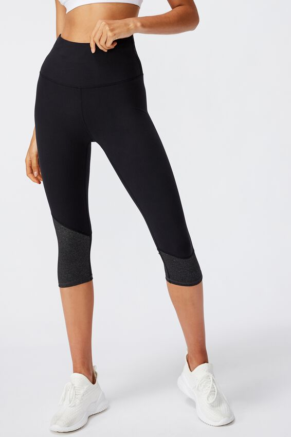 So Soft Capri Tight, BLACK/CHARCOAL MARLE