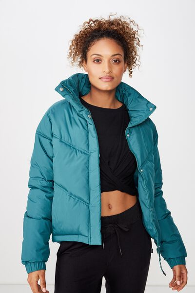 Hiking Puffer Jacket, JOLLY GREEN