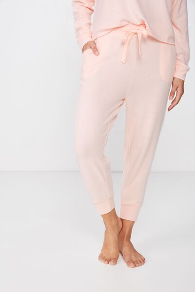 Supersoft Cropped Slim Fit Pant, SOFT CAMEO PINK MARLE