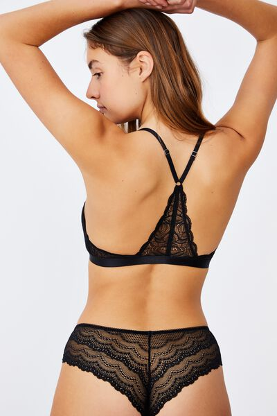 Summer Lace Wirefree Bra, BLACK