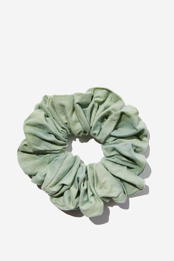 Organic Cotton Super Scrunchie, SMOKED GREEN