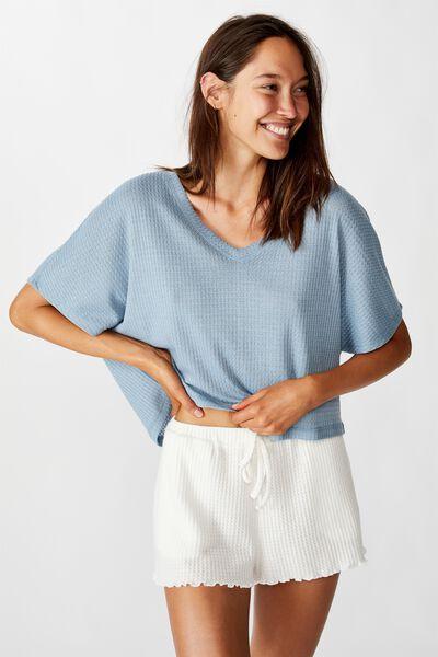Soft Waffle T-Shirt, FADED DENIM