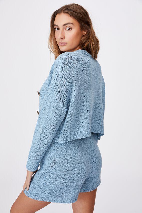 Summer Lounge Cardigan, GLACIER BLUE
