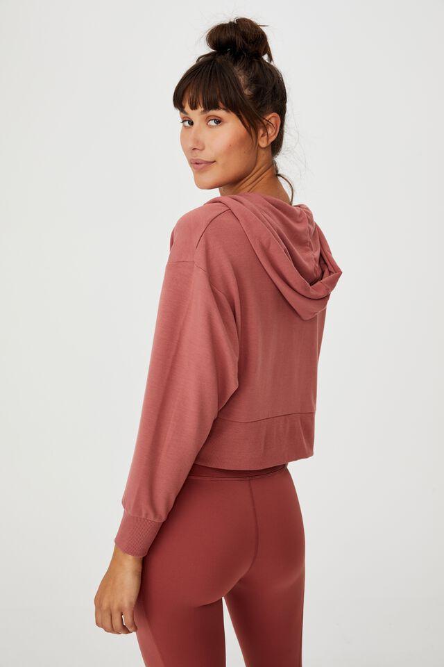The Ultra Soft Zip Through Hoodie, CHESTNUT