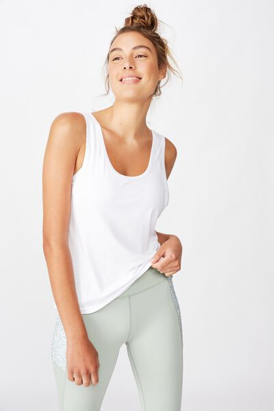 Twist Back Tank, WHITE