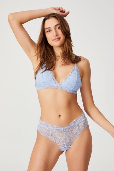 Fifi Lace Padded Bralette, SERENITY