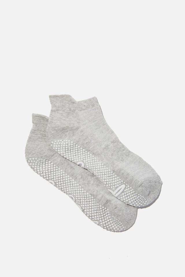 Studio Grip Sock, GREY MARLE