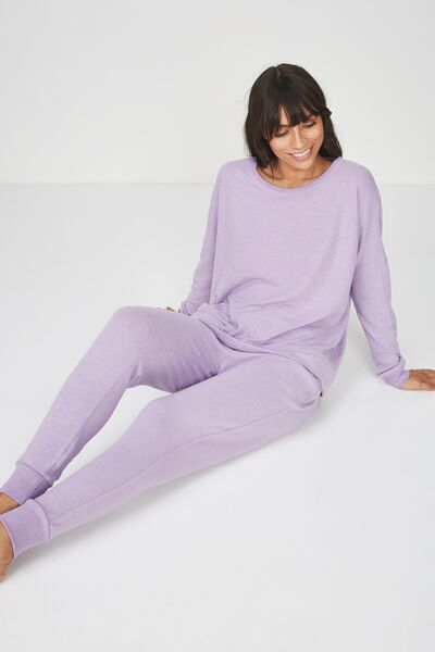 Super Soft  Lounge Top, LAVENDER MARLE