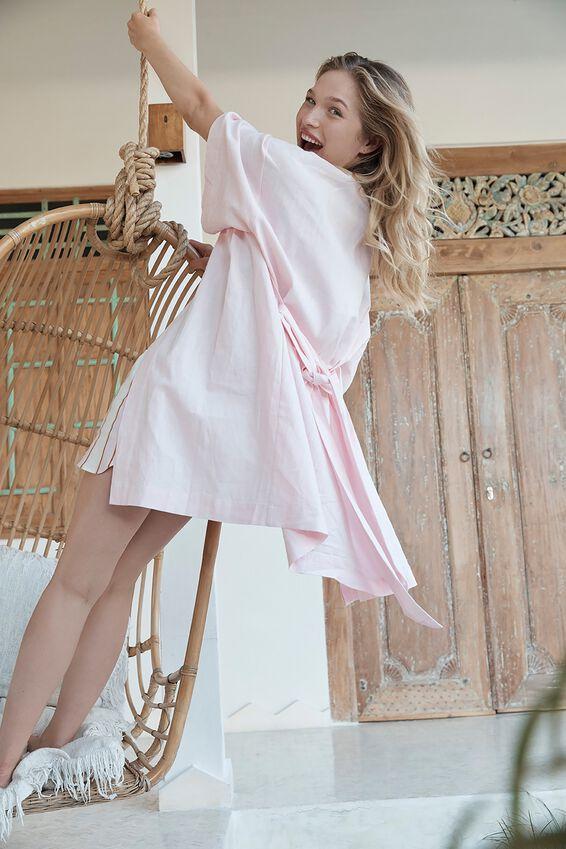 Woven Kimono, CRYSTAL PINK