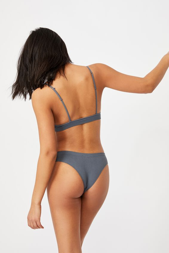 Seamless Triangle Bralette, GUNMETAL