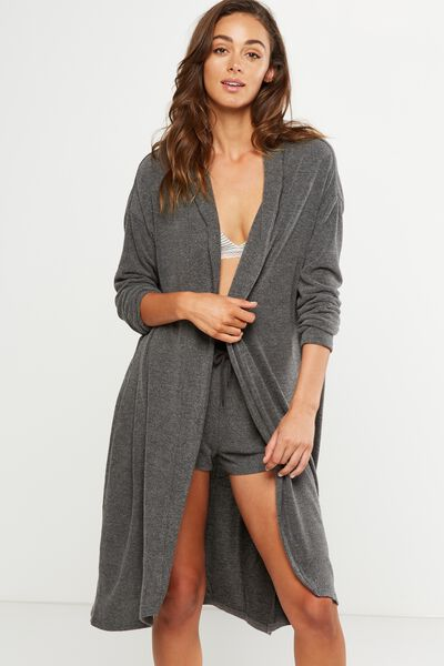 Super Soft Cardigan, CHARCOAL MARLE