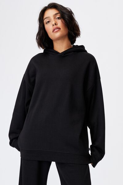 Lifestyle Oversized Hoodie, BLACK