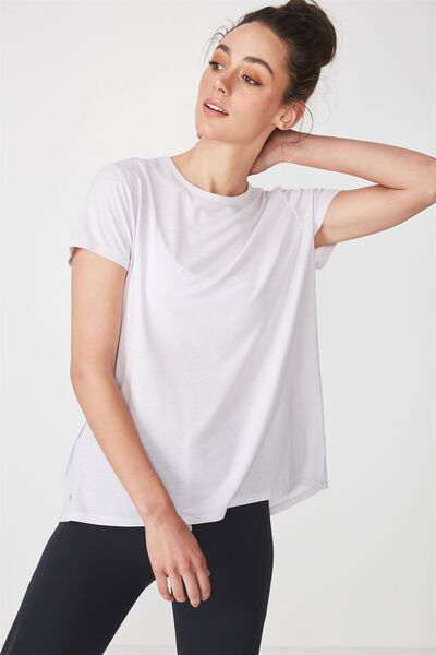 Split Back Hi-Low T Shirt, ICY LILAC