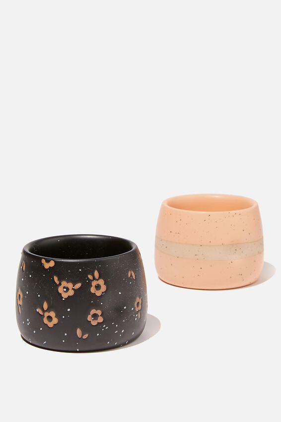 Tea For Two Mug, APRICOT/BLACK