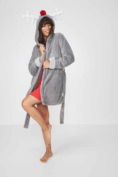 Novelty Gown, GREY/REINDEER