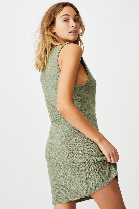Summer Lounge Slip Dress, KHAKI