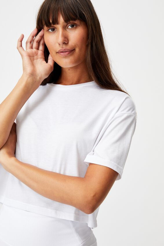 Relaxed Active T-Shirt, WHITE