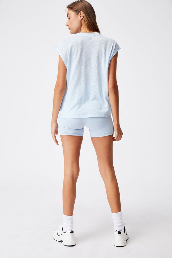 Lifestyle Slouchy Muscle Tank, BABY BLUE