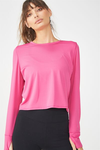 Textured Envelope Back Top, VERY BERRY