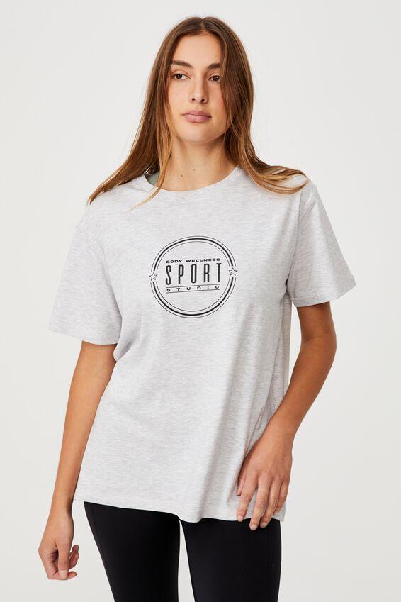 Post Sweat Organic Tshirt, SPORT STUDIO GREY MARLE