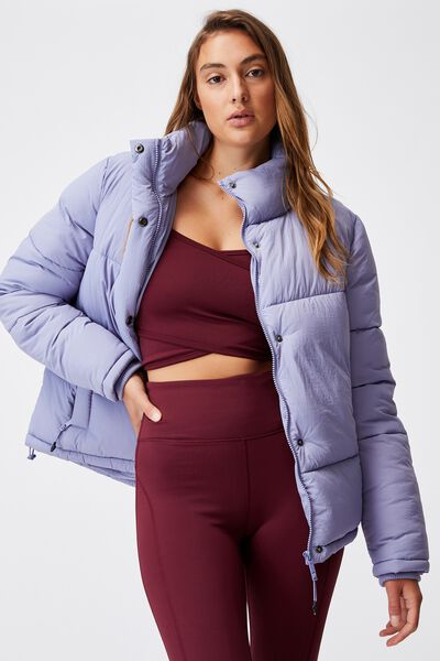 The Recycled Mother Puffer Jacket, PERWINKLE