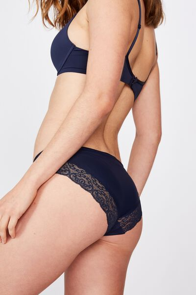 Party Pants Seamless Bikini Brief, MIDNIGHT