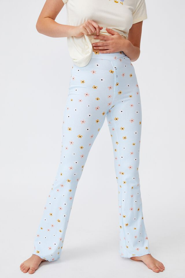Jersey Bed Pant, SIMPLE FLOWER STARLIGHT BLUE