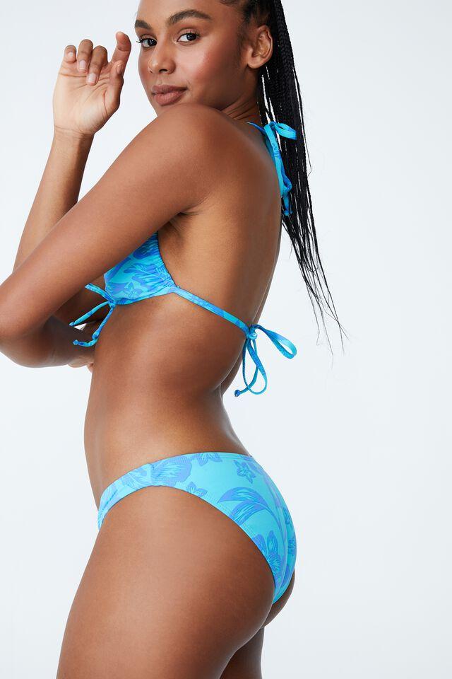 Full Bikini Bottom, HIBISCUS VINE BLUE