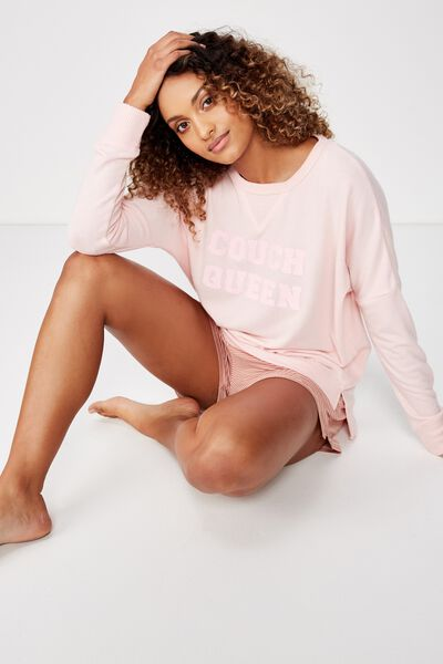 Supersoft Relaxed Lounge Crew, CLOUD PINK/COUCH QUEEN