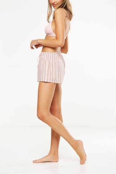 Bedtime Fun Shortie, LUXE STRIPE/TAUPE