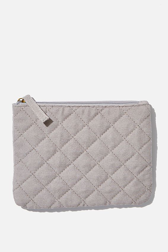 Sienna Cosmetic Case, GREY CORD