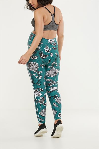 Maternity Warm And Fuzzy Tight, IMPERIAL FLORAL HUNTER GREEN