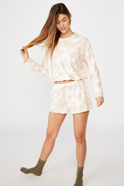 Super Soft Relaxed Short, CRÈME BRULEE OMBRE MARLE