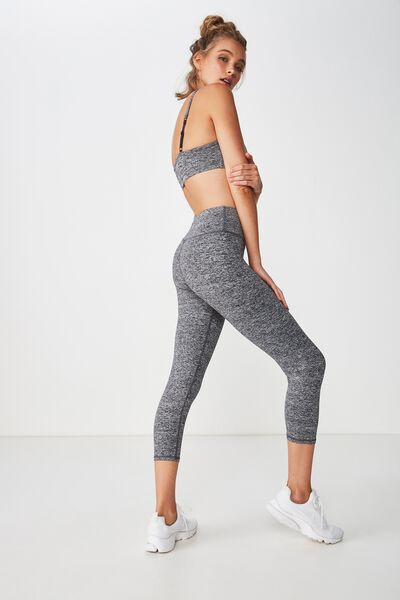 Active Core Cropped Tight, SALT & PEPPER