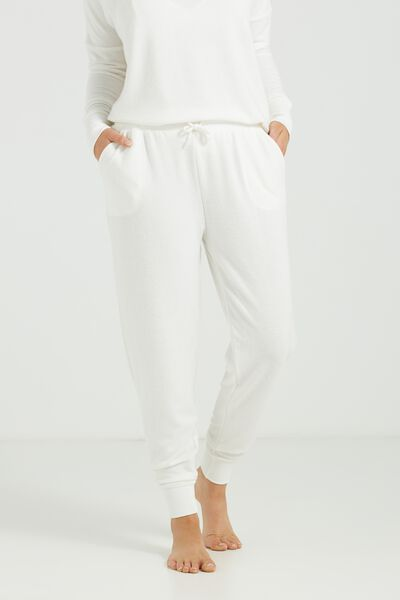 Super Soft Slim Track Pants, CREAM MARLE