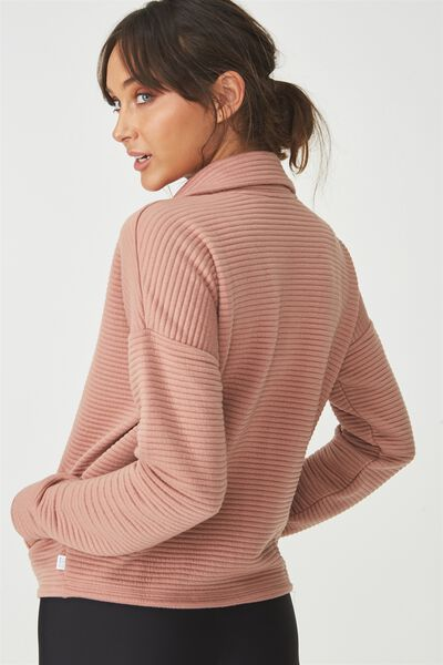 Ribbed Jacket, ASH ROSE