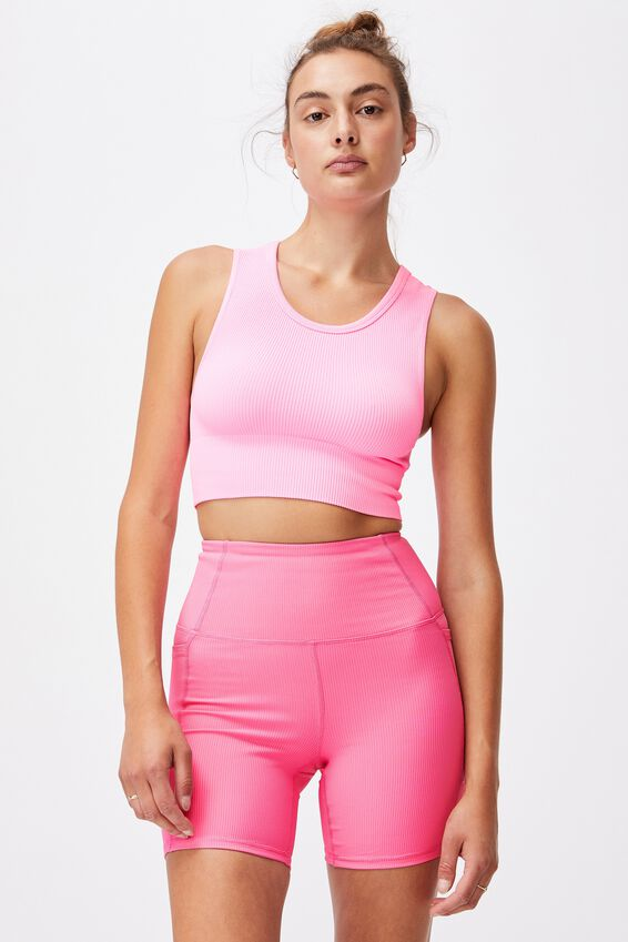 Rib Pocket Bike Short, AURORA PINK RIB