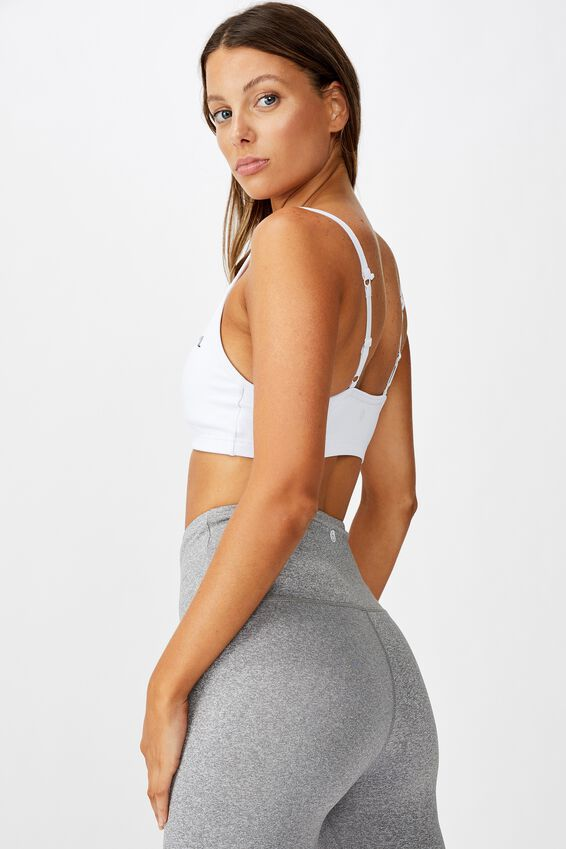 Personalised Workout Yoga Crop, WHITE