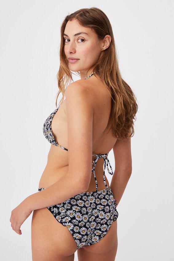 Full Bikini Bottom Mm Frill, DAISY GARDEN BLACK/FRILL