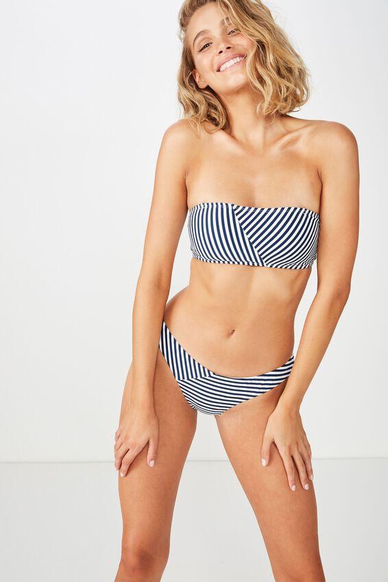 Classic Seamless Full Bikini Bottom, NIGHTBLUE STRIPE