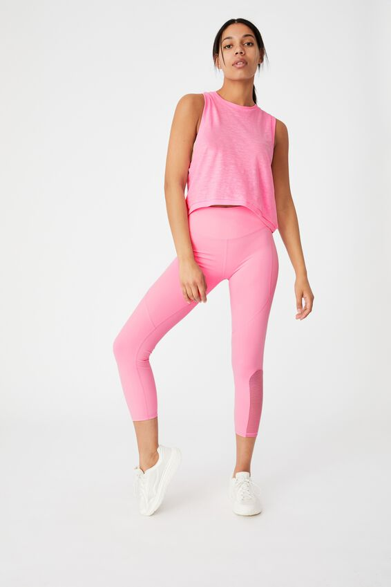 All Things Fabulous Cropped Muscle Tank, PINK POP MARLE