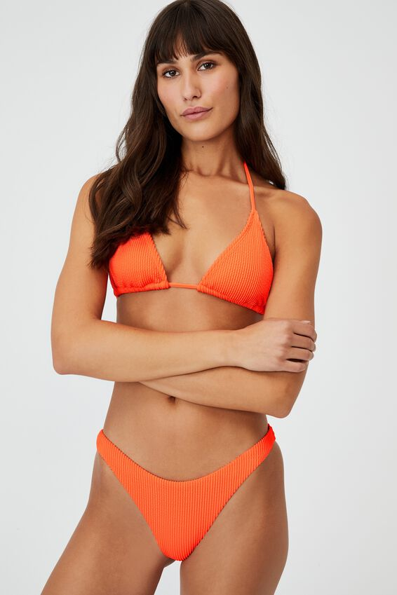 Gathered Bum Brazilian Bikini Bottom Crinkle, MANGO CRINKLE