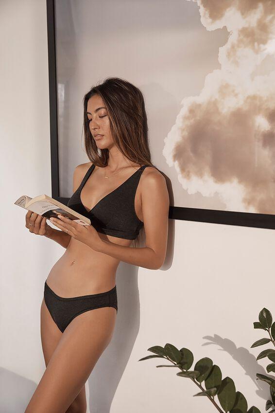 Sleep Recovery Bikini Brief, BLACK MARLE