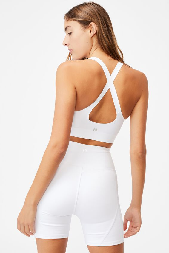 All Day Comfort Crop, WHITE