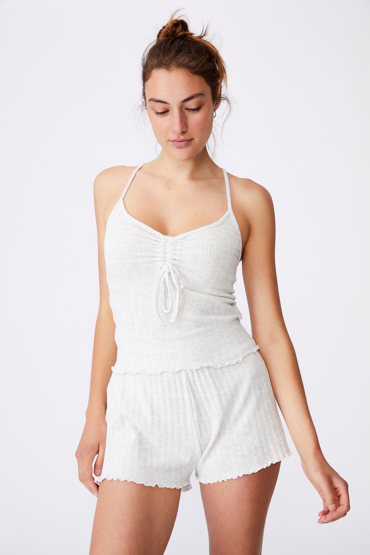 Knit Pointelle Sleep Tank   Cotton On