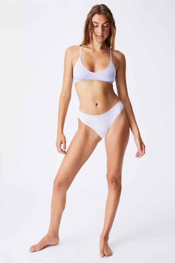 Cotton Bikini Brief, CHALKY LAVENDER TIE DYE
