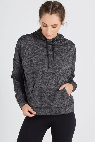 Gym Chi Sweat Top, BLACK SPACE