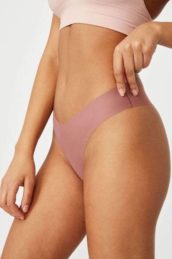 The Invisible G String Brief, DUSTY ROSE