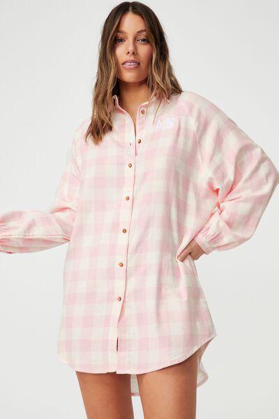 Warm Flannel Nightie Personalisation, GINGHAM CHECK